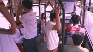 bus japan năm 2020 hot girl chân dài đi trên xe bus