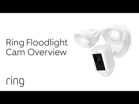 video Ring Floodlight Camera with Echo Dot