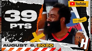 James Harden 39 Points 12 Ast Full Highlights | Lakers vs Rockets | August 6, 2020