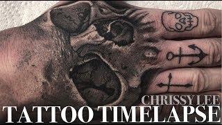 TATTOO TIME LAPSE | SKULL HAND | CHRISSY LEE