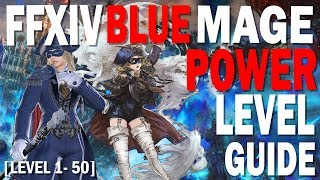 FFXIV Blue Mage Power Level Guide [How to Level 1 to 50 in a few hours if not less]