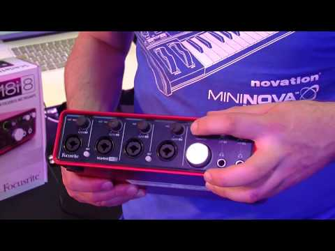 Focusrite Scarlett 18i8 and 6i6 demo at Nevada Music UK