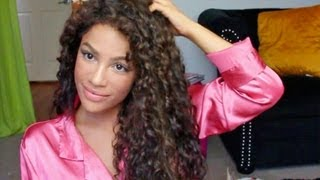 How to Style Curly Hair!  (Curly hair routine)