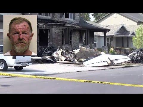 بالفيديو..طيار يسقط الطائرة على منزله انتقاما من زوجته