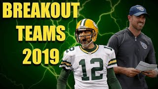 Potential BREAKOUT Teams For the 2019 NFL Season