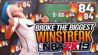 I BROKE THE BIGGEST WINSTREAK IN NBA 2K19 HISTORY. THE #1 DUO ON NBA 2K19 BREAKS 84 GAME WINSTREAK