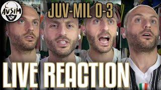 Juventus-Milan 0-3 live reaction ||| Avsim Live