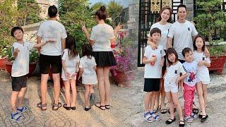 Lý Hải bà xã Minh Hà và 4 con về quê đón tết,khoe áo đồng phục gia đình cực ý nghĩa