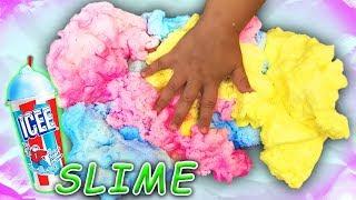 Rainbow Icee Slime with 1 gallon of glue! Cotton Cloud Slime Recipe
