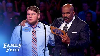 Jake needs 29 points with his final answer!   Family Feud