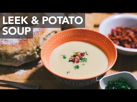 LEEK & POTATO SOUP WITH BACON - Instant Pot