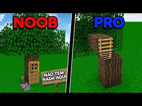 Batalha de Construção: PASSAGEM SECRETA NA ÁRVORE DE NOOB VS PASSAGEM SECRETA NA ÁRVORE  DE PRO!