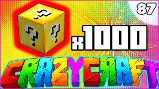 "Minecraft CRAZY CRAFT 3.0 SMP - ""1,000 LUCKY BLOCK OPENING"" - Episode 87"