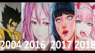 My Art Progress From Age 13-22 (2009-2018)