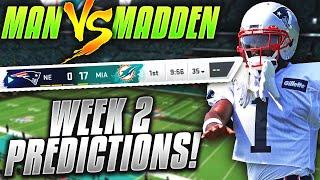 Predicting Every NFL Week 2 Winner... CAN AB MAKE AN IMMEDIATE IMPACT? | Man vs Madden 2019