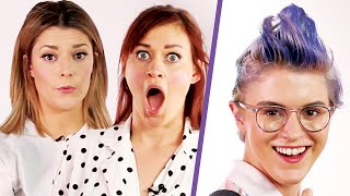 Grace Helbig and Mamrie Hart Give People Haircuts