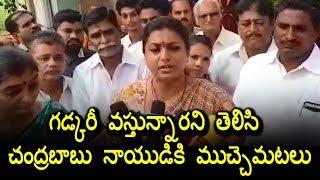 MLA Roja Comments on Chandrababu Naidu over Gadkari Tour