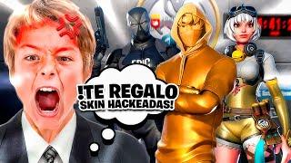 El HIJO del DUEÑO de EPIC GAMES me REGALA SKINS HACKEADAS en Fortnite...