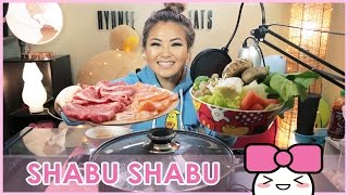 SHABU SHABU (Japanese Hot Pot) | MUKBANG