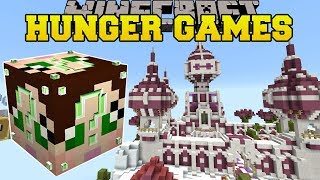 Minecraft: PINK CASTLE HUNGER GAMES - Lucky Block Mod - Modded Mini-Game