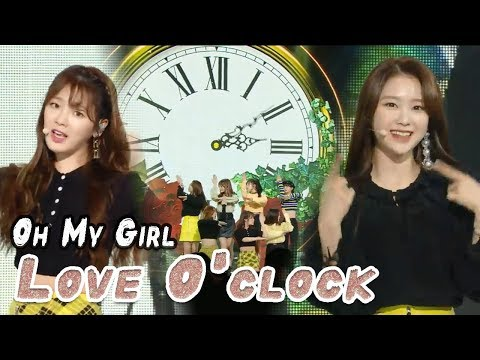 [HOT] OH MY GIRL - Love O'clock, 오마이걸 - 러브 어클락 Show Music core 20180224