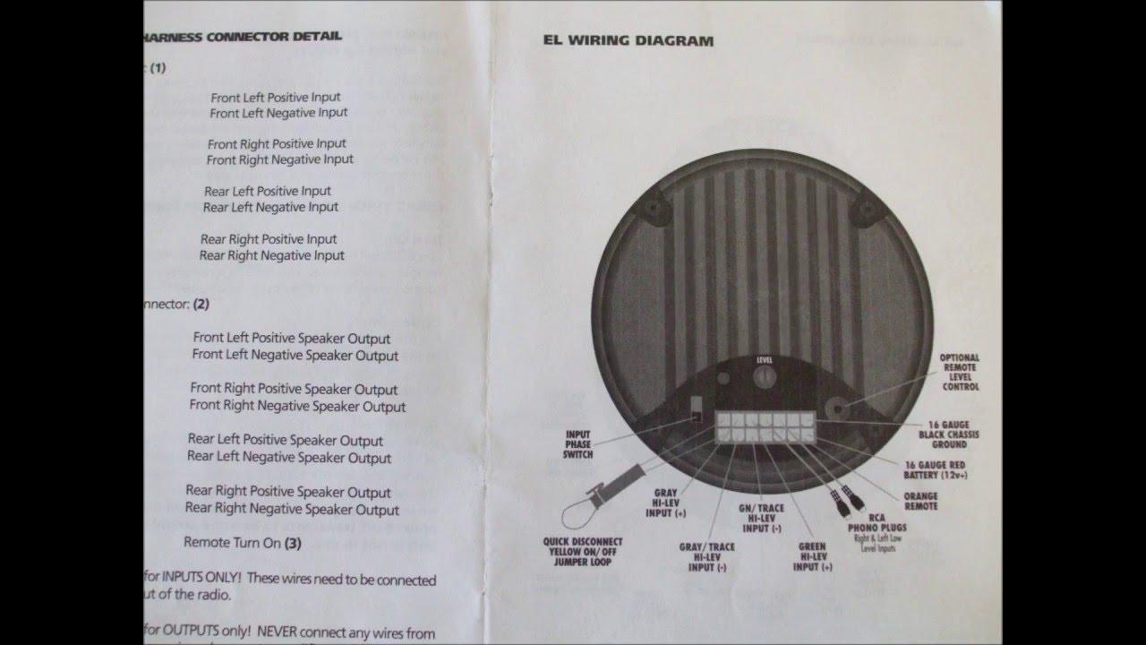 bazooka powered sub woofer wiring schematics youtube