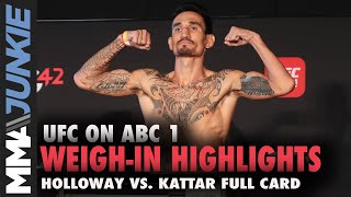 UFC on ABC 1 official weigh-in highlights