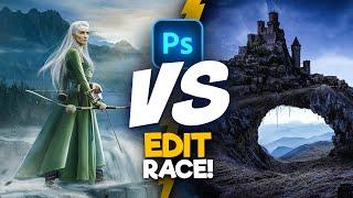 2 Digital Artists Use the SAME Images! (photoshop)   Edit Race S2E3