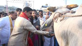 Nara Lokesh, Bramhani, Devansh visit Tirumala..
