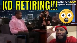 Kevin Durant on Retiring, J.R. Smith Blunder, LeBron James & Partying After Finals W… – REACTION!!!