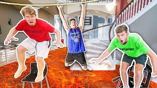 Extreme Mansion Floor Is LAVA - Challenge