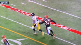 Vontaze Burfict hits Antonio Brown in the head .. Dirty