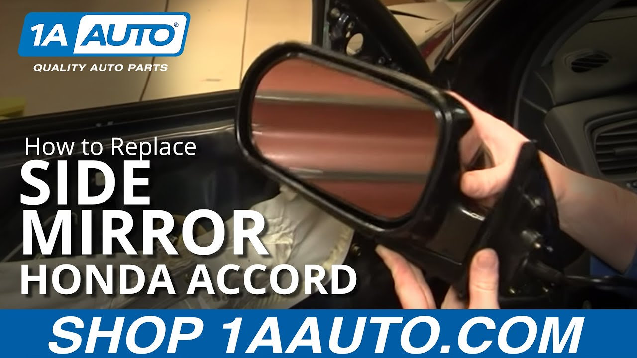 How To Install Repair Replace Side Rear View Mirror Honda