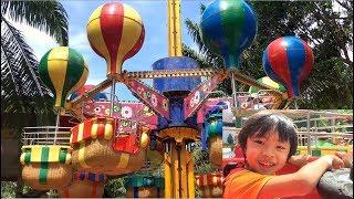 Stin Dâu - Chơi Rồng lượn tuổi thơ - Kinh khí cầu xoay trên không tại Đầm Sen Park (^_^)