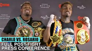 JERMELL CHARLO'S FULL POST FIGHT PRESS CONFERENCE VS ROSARIO (FULL POST FIGHT VIDEO)