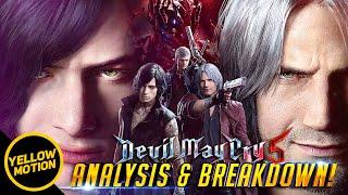 DEVIL MAY CRY 5 | V Gameplay Trailer Breakdown / Nero, Dante (Majin) & Demon King In-depth Analysis!