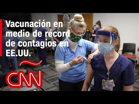 Récord de contagios en EE.UU. y la vacunación apenas ha empezado