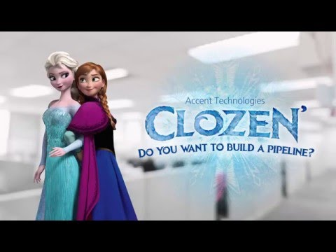 Clozen: Do you want to build a pipeline? (Frozen B2B sales spoof)