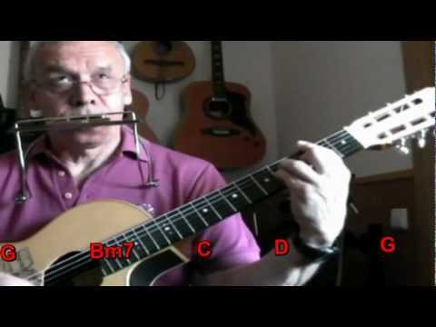 Nº 002 Vivir sin aire ( tablatura armonica G )+ chords guitar Mundharmonika