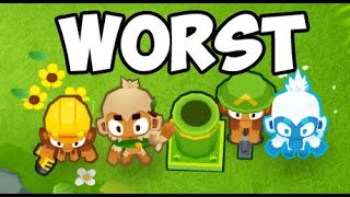 YOU VOTED - Can The Worst Towers in BTD6 Beat Chimps?