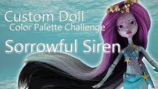 Custom Doll Repaint + My First Doll WIG!  Mermaid Sorrowful Siren Lagoona Blue OOAK