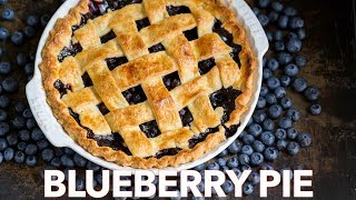 How To Make The Ultimate Blueberry Pie Recipe + Flaky Crust