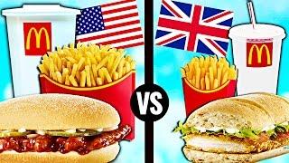 AMERICAN vs. BRITISH McDonald's Food