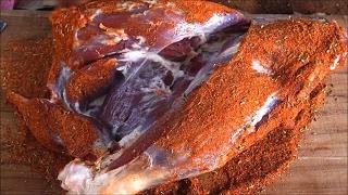 Lamb Leg Roast - Goat Leg Slow Roast Cooking In A Village - NEVER SEEN VIDEO !!!!