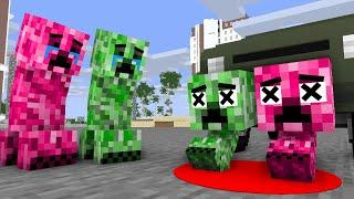 Monster School : Poor Creeper Babies Life - minecraft animation