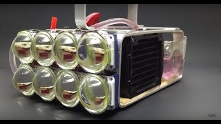 Water Cooled 72,000 Lumen LED Flashlight!!