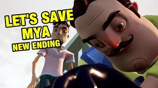 Hello Neighbor Hide and Seek NEW ENDING | Let's Save Mya