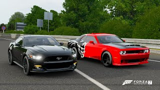 Forza 7 Drag race: Dodge Demon vs Ford Mustang GT (Tuned)