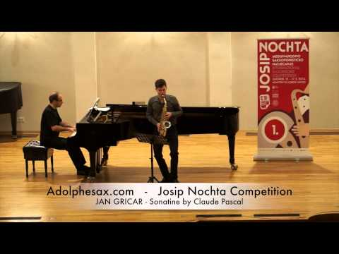 Josip Nochta Competition JAN GRICAR Sonatine by Claude Pascal