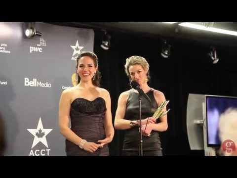 Anna Silk & Zoie Palmer for 'Lost Girl' at Canadian Screen Awards